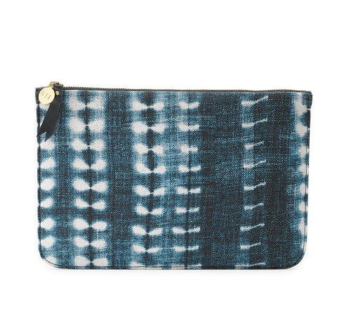 Indigo Vines Travel Clutch