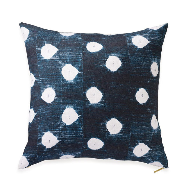 Dots Indigo - Throw Pillow Pillow Mali