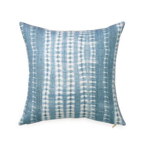 printed pillows indigo