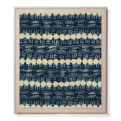 Beads Indigo - Accent Framed Print