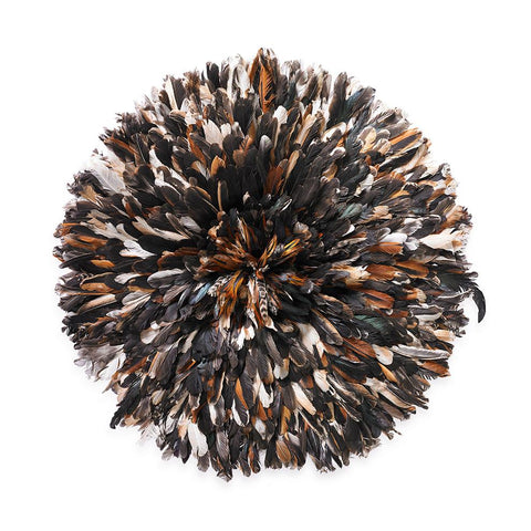 St. Frank Juju Hat from Cameroon with Natural Wild Bird Feathers