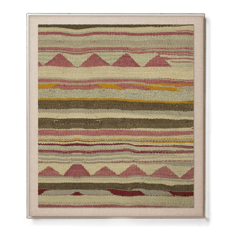 Mountains Kilim - Accent Framed Print