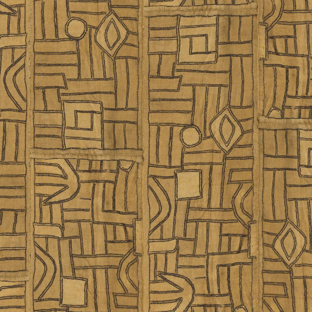 Golden Maze Kuba Cloth - Wallpaper Yardage St. Frank
