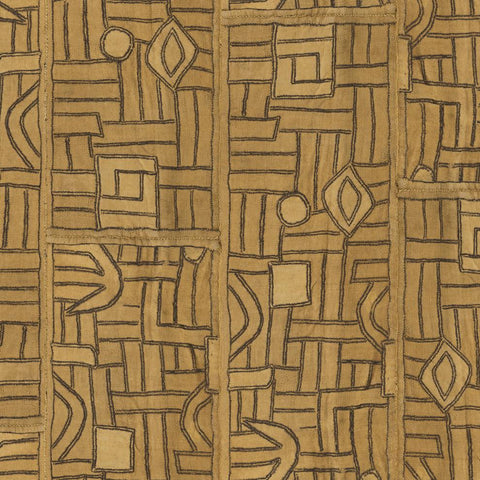 Golden Maze Kuba Cloth - Fabric