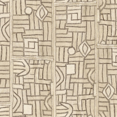 Ecru Maze Kuba Cloth - Fabric