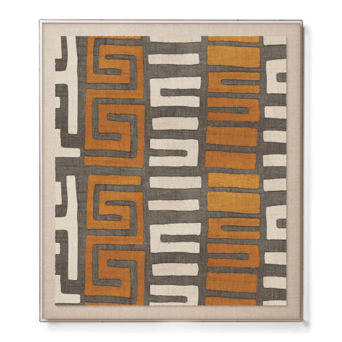 Amber Stripe Kuba Cloth I - Accent Framed Print