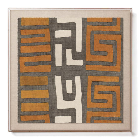 Amber Stripe Kuba Cloth II - Accent Framed Print