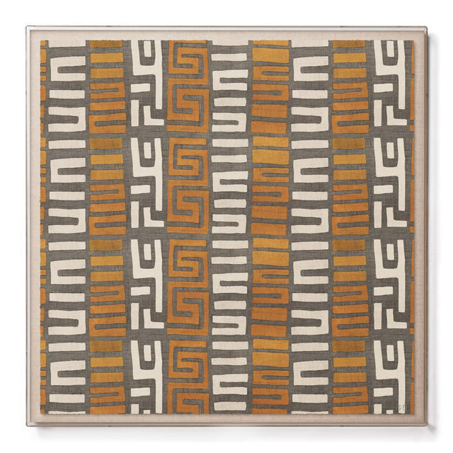 Amber Stripe Kuba Cloth - Sublime Framed Print Print Democratic Republic of Congo