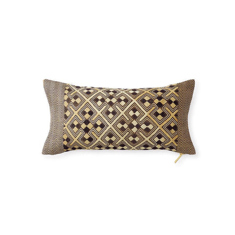 Kuba Cloth Pillow XX - Lumbar Pillow