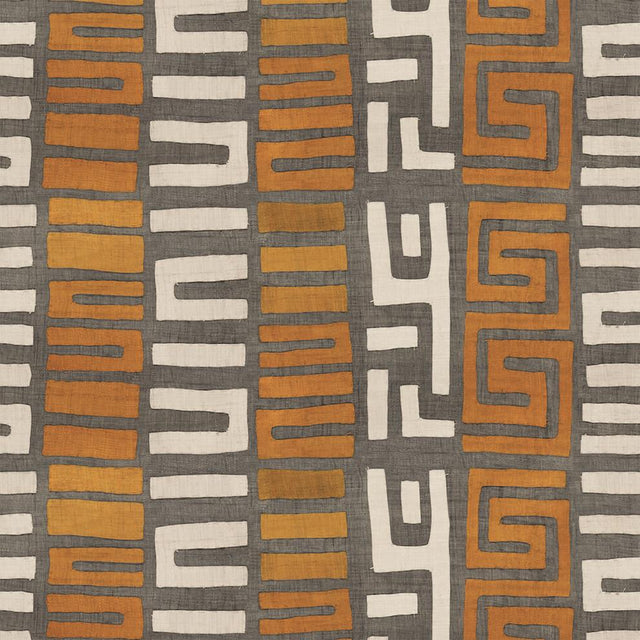 Amber Stripe Kuba Cloth - Wallpaper Yardage St. Frank