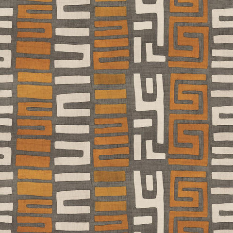 Amber Stripe Kuba Cloth - Wallpaper