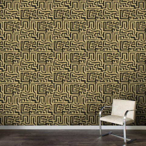 Coffee Classic Kuba Cloth - Wallpaper