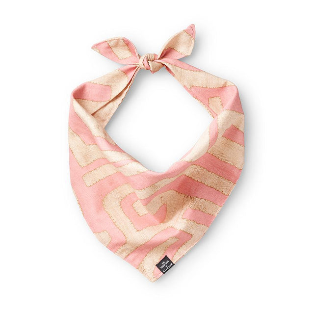 Terracotta Classic Kuba Cloth - Dog Bandana Dog Accessory The Foggy Dog x St. Frank