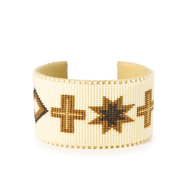 Cream Navajo - XL Cuff