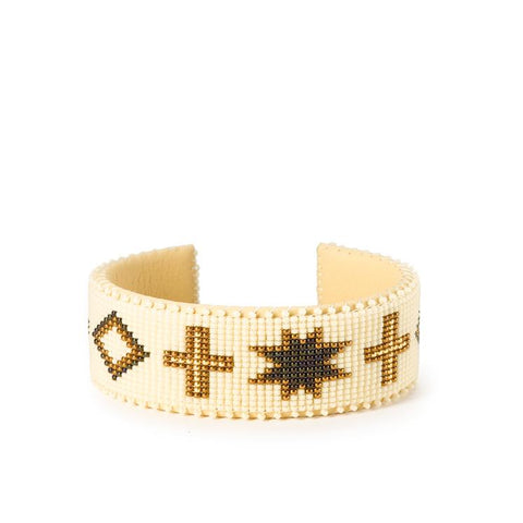 Cream Navajo - Large Cuff