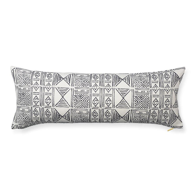 Ecru Classic Mud Cloth - Lumbar Pillow Pillow St. Frank