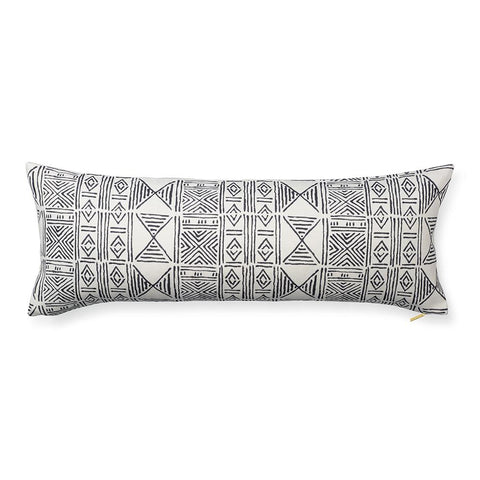 Ecru Classic Mud Cloth - Lumbar Pillow