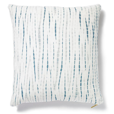 Organic Indigo I - Throw Pillow