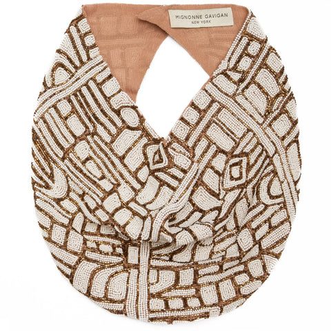 Kuba Cloth - Beaded Scarf Necklace