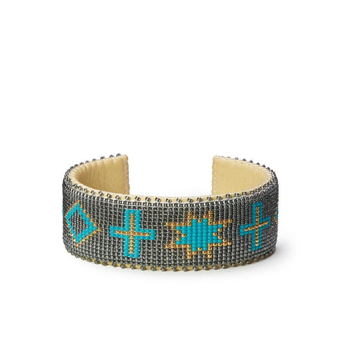 Grey Navajo - Large Cuff
