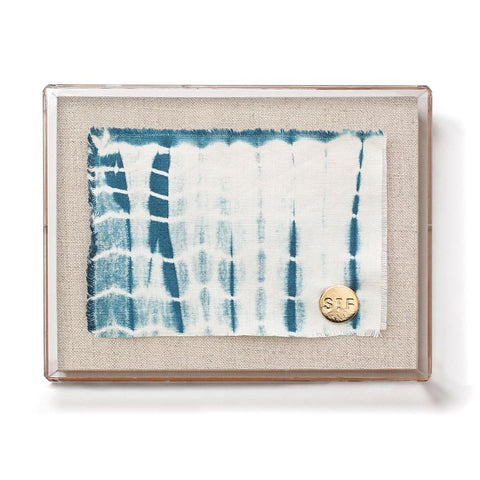 St. Frank Organic Indigo Mini Small Textle with Acrylic Shadowbox Frame
