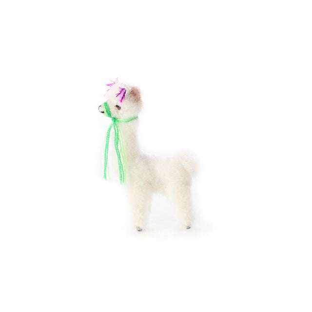 White Alpaca - Ornament Holiday Accent Peru
