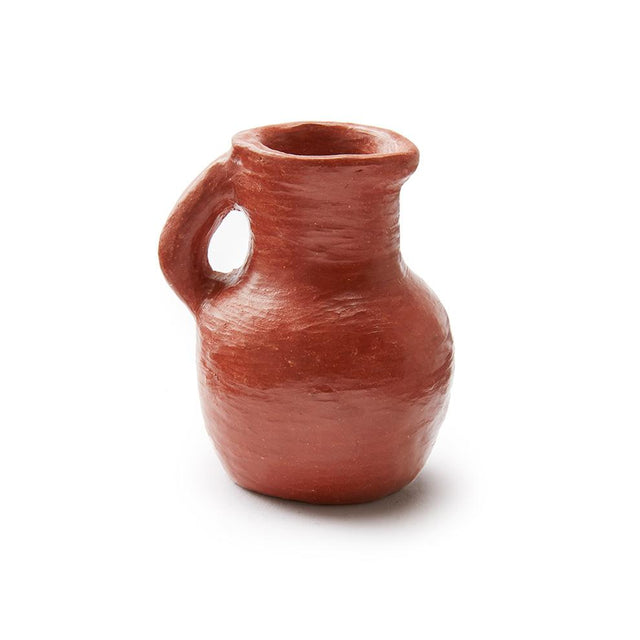 Red Clay Mini Pitcher - Ornament Holiday Accents Mexico