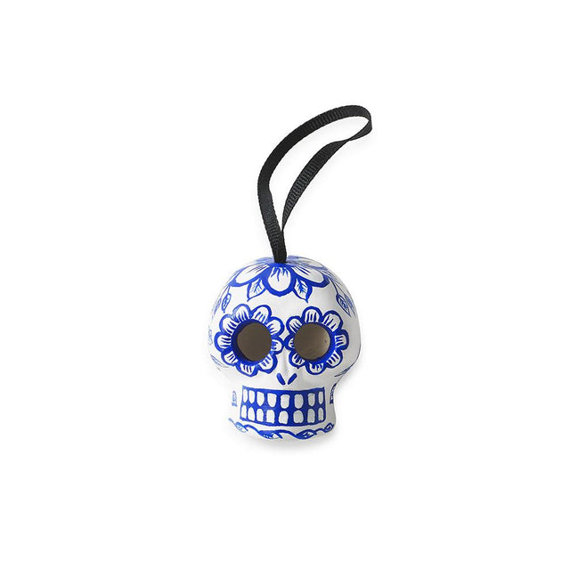 Cobalt Skull - Ornament Holiday Accent Mexico