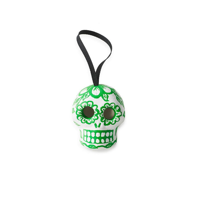 Green Skull - Ornament Holiday Accent Mexico