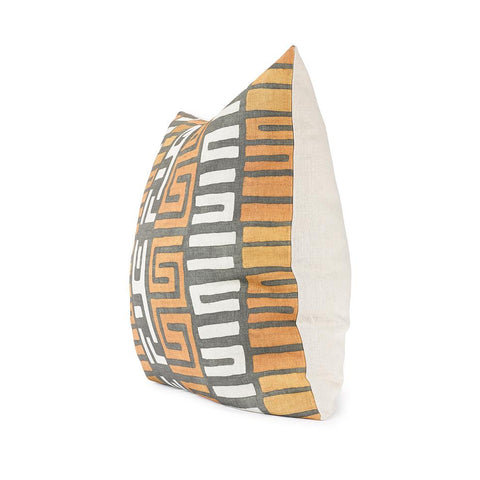 Amber Stripe Kuba Cloth - Floor Pillow