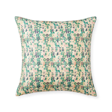 Forest Huipil - Floor Pillow