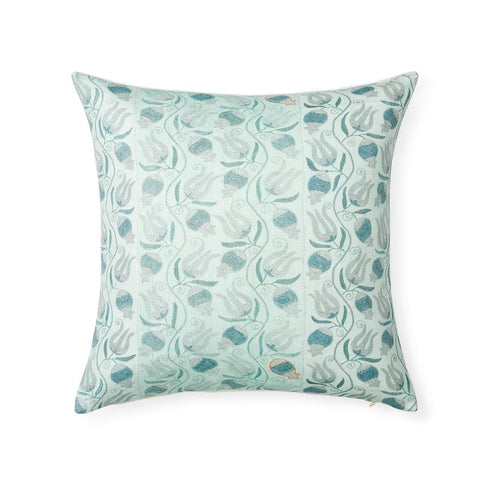 Aqua Pomegranate Suzani - Floor Pillow