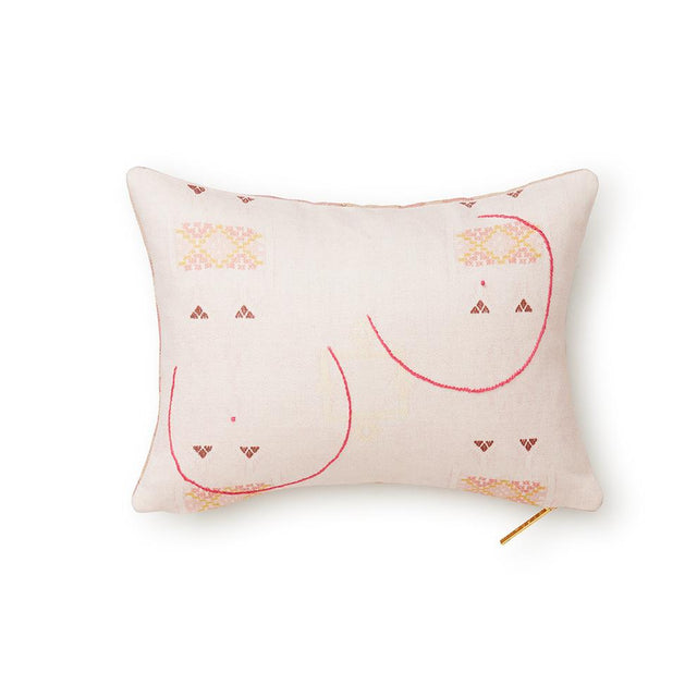 Breast Cancer Awareness - Double Sided Lumbar Pillow Pillow St. Frank