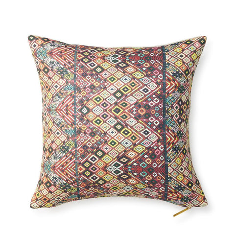 Pink Diamond Huipil - Throw Pillow