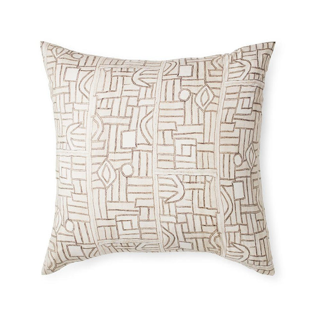 Ecru Maze Kuba Cloth - Pillowcases + Shams Bedding Portugal