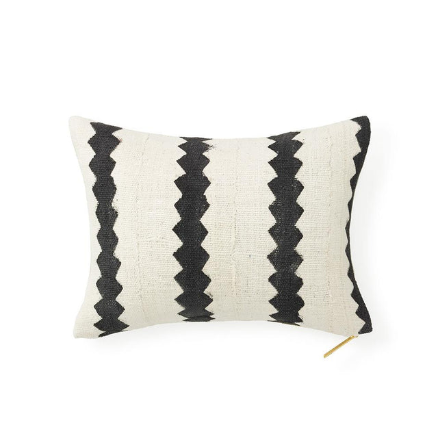Ecru Mud Cloth XVIII - Lumbar Pillow SOLD OUT Mali