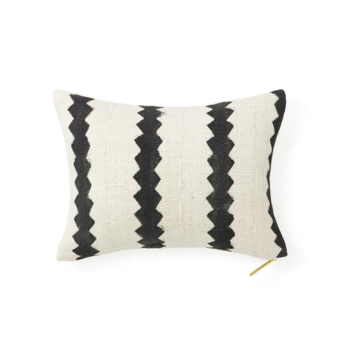 Ecru Mud Cloth XVIII - Lumbar Pillow