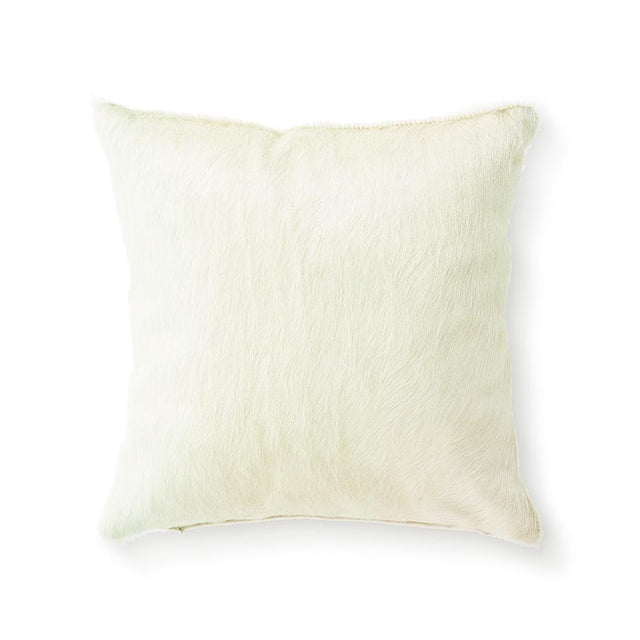 Ivory Cowhide - Small Throw Pillow