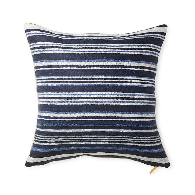 Striped Indigo - Throw Pillow Pillow St. Frank