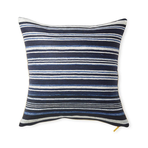 Striped Indigo - Throw Pillow