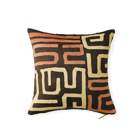 Kuba Cloth XXII - Throw Pillow