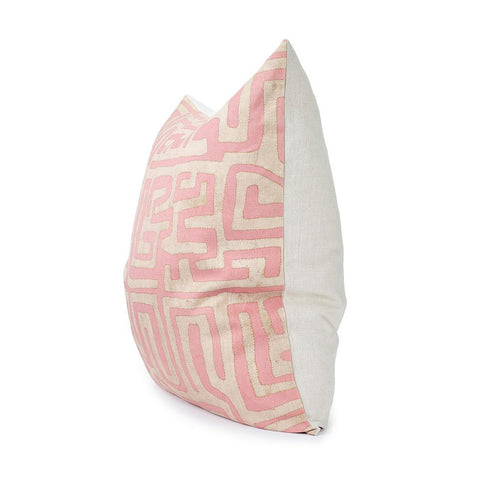 Kuba Cloth Printed Floor Pillow - Terracotta
