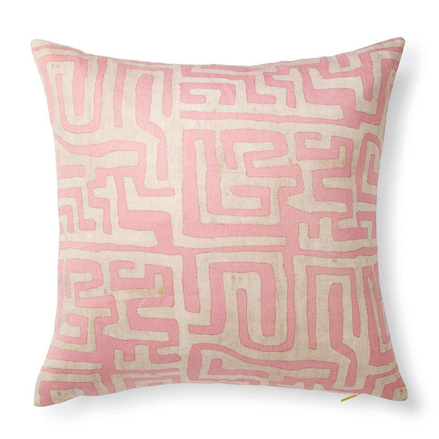 Terracotta Classic Kuba Cloth - Floor Pillow