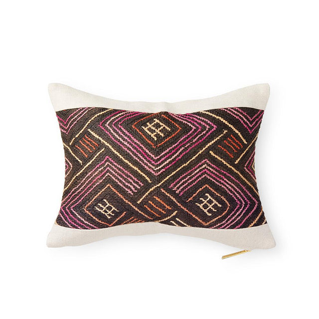 Kuba Cloth LXIII - Lumbar Pillow Pillow DEMOCRATIC REPUBLIC OF CONGO