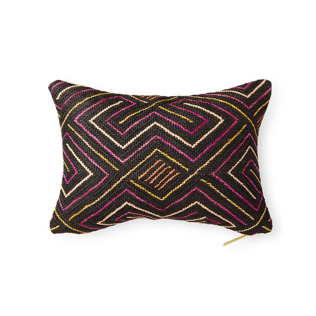 Kuba Cloth LXII - Lumbar Pillow Pillow DEMOCRATIC REPUBLIC OF CONGO