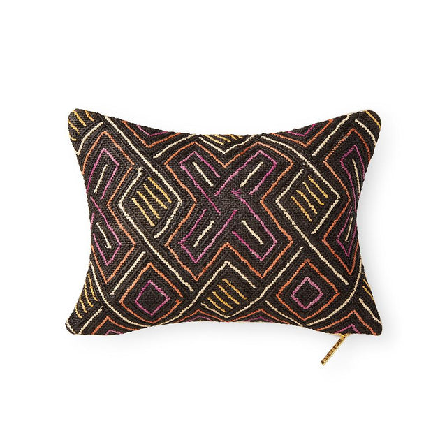 Kuba Cloth LXIV - Lumbar Pillow Pillow DEMOCRATIC REPUBLIC OF CONGO