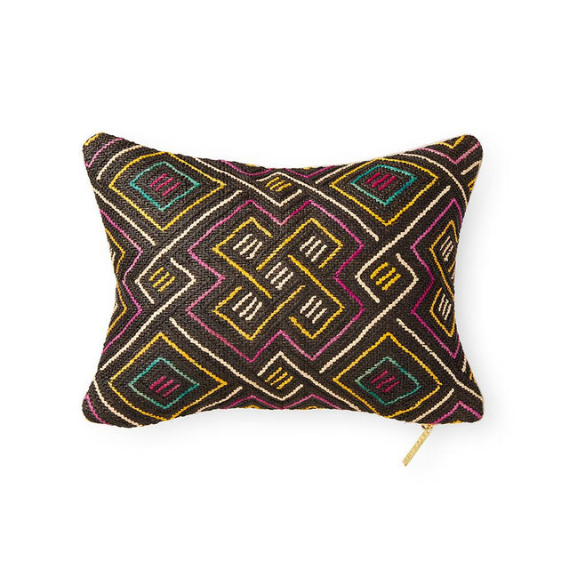 Kuba Cloth LXIX - Lumbar Pillow Pillow DEMOCRATIC REPUBLIC OF CONGO