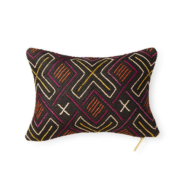 Kuba Cloth LXI - Lumbar Pillow Pillow DEMOCRATIC REPUBLIC OF CONGO