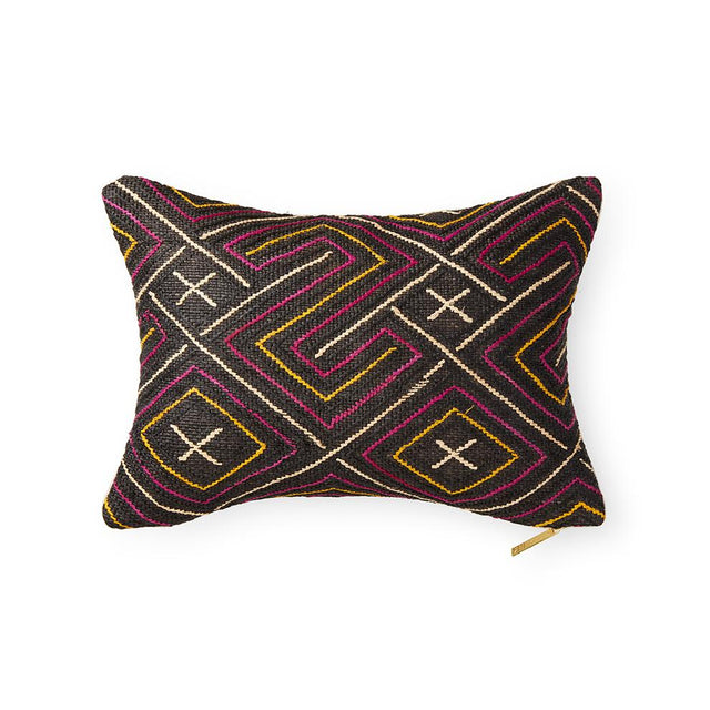 Kuba Cloth LXVIII - Lumbar Pillow Pillow DEMOCRATIC REPUBLIC OF CONGO