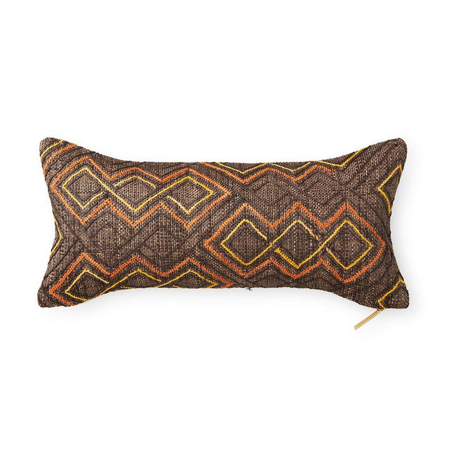 Kuba Cloth LXXIX - Lumbar Pillow Pillow DEMOCRATIC REPUBLIC OF CONGO